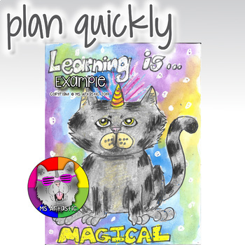 Back to School Art Project, Learning is Meowgical