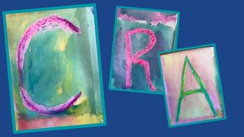 Back to School Art Project, Letters, Names