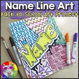 Back to School Art Project, Line Art