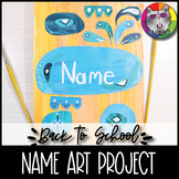 Back to School Art Lesson, Name Art, Painted Paper Collage