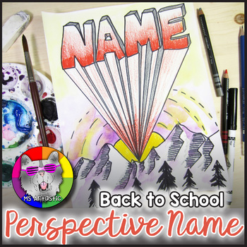Back to School Art Project, Perspective Name