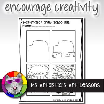 Back to School Art Project, School Bus Pop Art