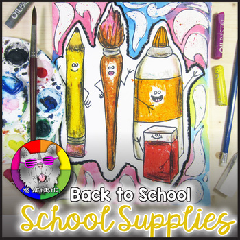 Back to School Art Project, School Supplies