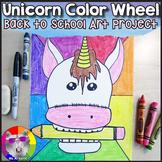 Back to School Art Lesson, Unicorn Color Wheel Art Project