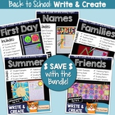 Back to School Activities - Writing Prompt & Art Projects