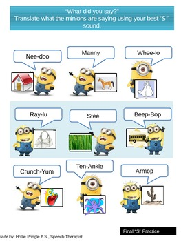 """Back to School Artic and Language Packet with """"Despicable Me 2!"""" theme!"""