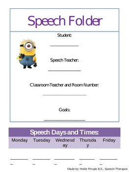 "Back to School Artic and Language Packet with ""Despicable"