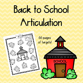 Back to School Articulation