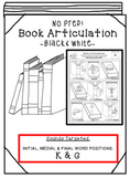 Back to School Articulation -Books! [K & G] Articulation