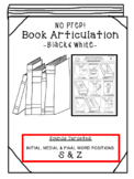 Back to School Articulation -Books! [S & Z] Articulation