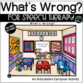 Back to School Articulation Carryover Activity What's Wrong Picture Scenes