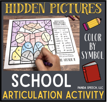 Back to School Articulation Color by Symbol: A Speech Therapy Activity