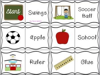 Back to School - Articulation Dominoes