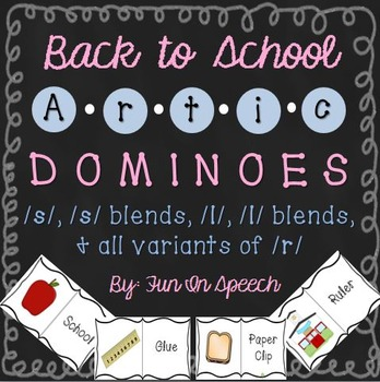 Back to School - Articulation Dominoes