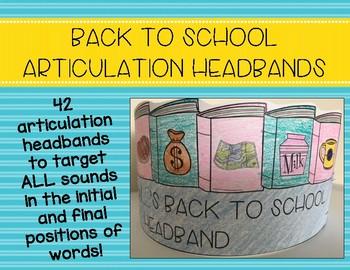 Back to School Articulation Headbands