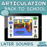 Back to School Articulation Later Developing sounds speech therapy Boom Cards™