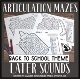 Back to School Articulation Mazes: A Speech Therapy Activity