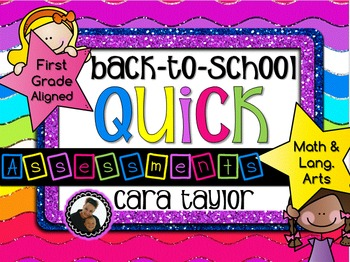 Back to School Assessment Task Cards