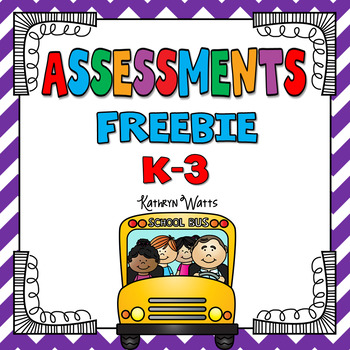 Assessments Freebie