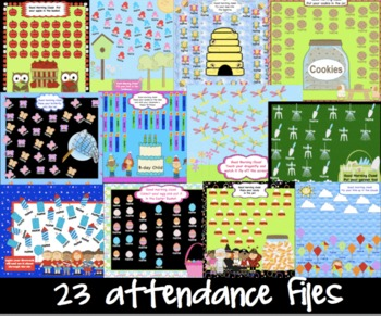 Back to School Attendance Smartboard Morning  23  Interactive Themed Pages