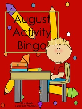 Back to School - August Activity Bingo