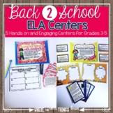 Back to School-August ELA Centers + DIGITAL Bundle