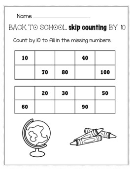 Back to School August/September Math for 1st Grade - NO PREP Packet