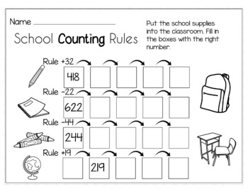 Back to School August/September Math for 3rd Grade - NO PREP Packet