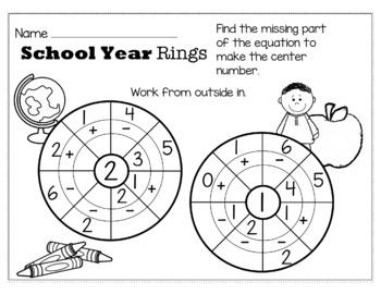 Back to School August/September Math for Kindergarten - NO PREP Packet