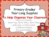 Back to School Auto-Populating forms, name plates and name
