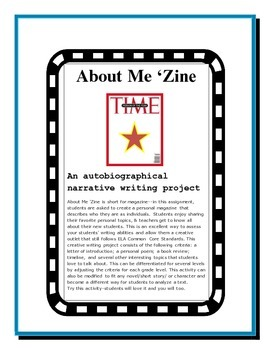 Back to School Autobiography: About Me 'Zine