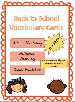 Back to School Autumn Vocabulary Cards