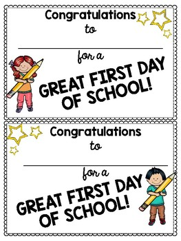 Back to School Awards & Certificates!