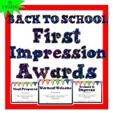 Back to School Awards First Impression Classroom Superlati