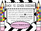 Back to School BINGO!