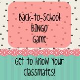 Back-to-School BINGO