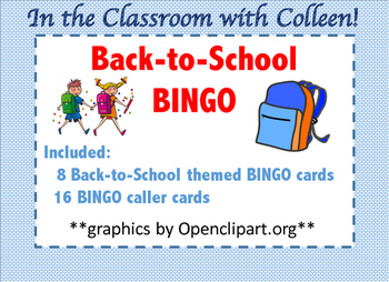 Back to School BINGO Games