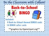 Back to School BINGO Games