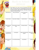 Back to School BINGO Activity