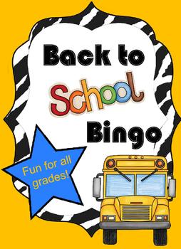 Back to School BINGO {All Grades}
