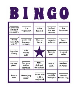 Back to School BINGO Cards - Elementary or ESL Icebreaker