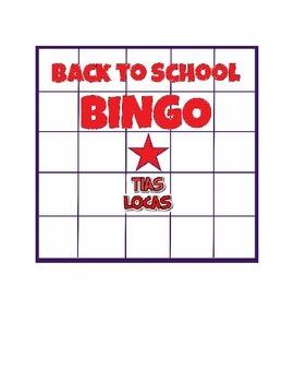 Back to School BINGO Cards - Elementary or ESL Icebreaker