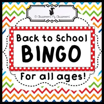 Back to School BINGO - Get to Know You Game for the First Weeks of School!