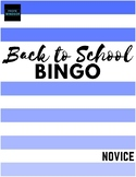 Back to School BINGO - an engaging, guided speaking activi