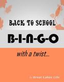 Back to School BINGO with a Twist