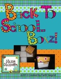 Back to School BOXZ~ Get to know your students Activity