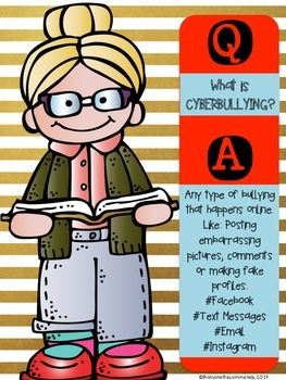 Back to School BULLYING Graphic Organizers-Mini Lessons-Posters