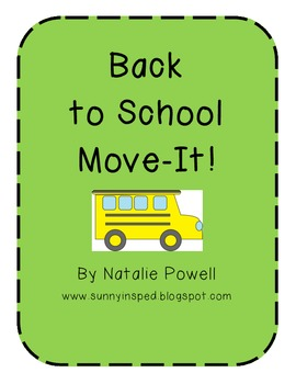 Back to School Move It! {Number Recognition Game}