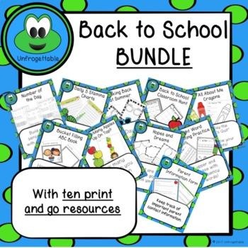 Back to School BUNDLE!