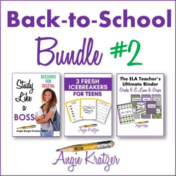 Back-to-School BUNDLE #2 {Binder, Devotional, Icebreakers, Study Skills}